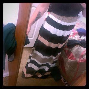 Long maternity dress.